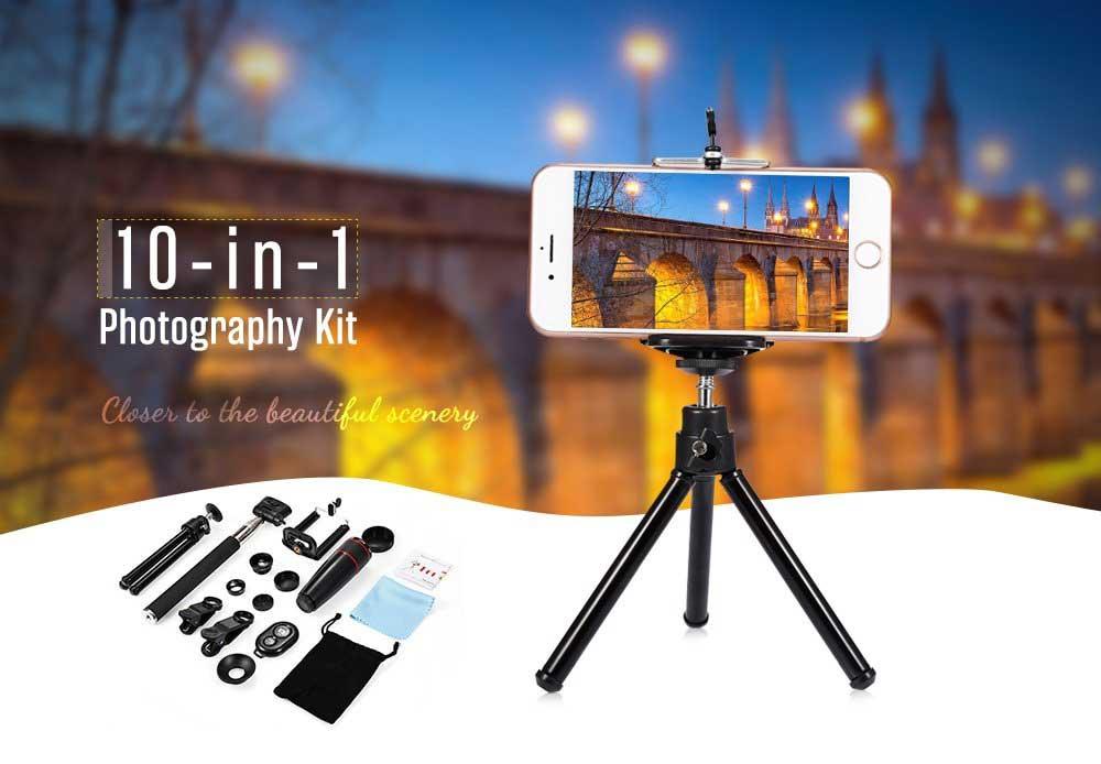 10 részes kitűnő okostelefon kiegészítő szett fényképezéshez és videózáshoz