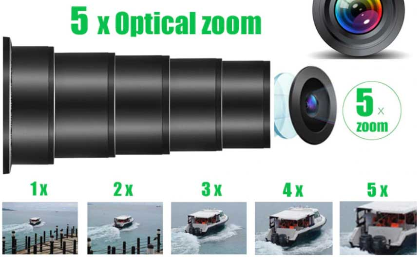 WiFi IP kamera digitális vagy optikai kamera zoom és autófókusz