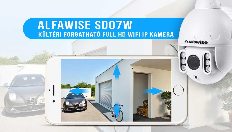 Alfawise SD07W kültéri forgatható WiFi IP kamera teszt