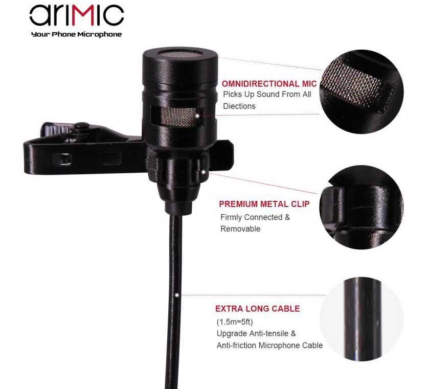 AriMic csiptetős dupla mikrofon hangvétel minden irányból