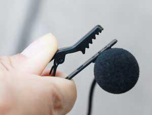 AriMic csiptetős dupla mikrofon fém csiptető