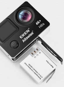 EKEN H6S akció kamera teszt - akkumulátor