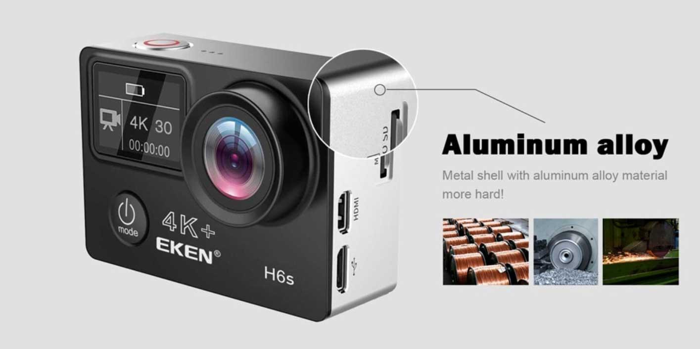 EKEN H6S akció kamera teszt - alumínium ház