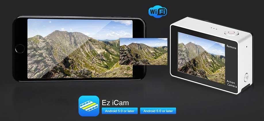 EKEN H6S akciókamera teszt app