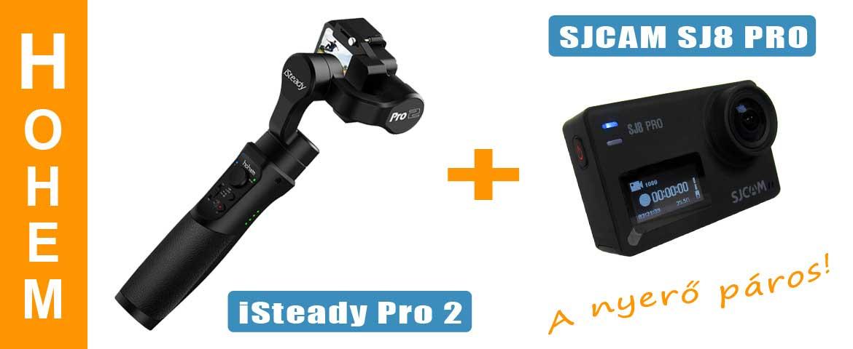 Hohem iSteady Pro 2 gimbal és az SJCAM SJ8 PRO