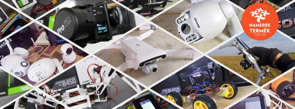 Drónok, WiFi IP kamerák, akciókamerák, Arduino robotika és sok más érdekesség