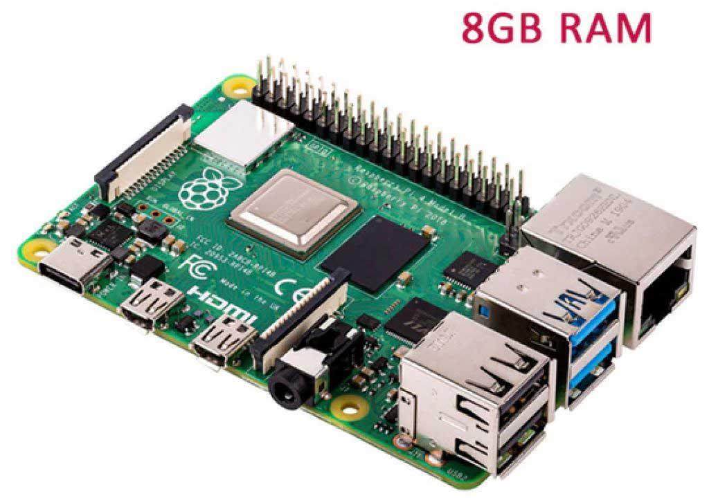 Raspberry Pi 4 Model B / 8GB Mini PC alaplap