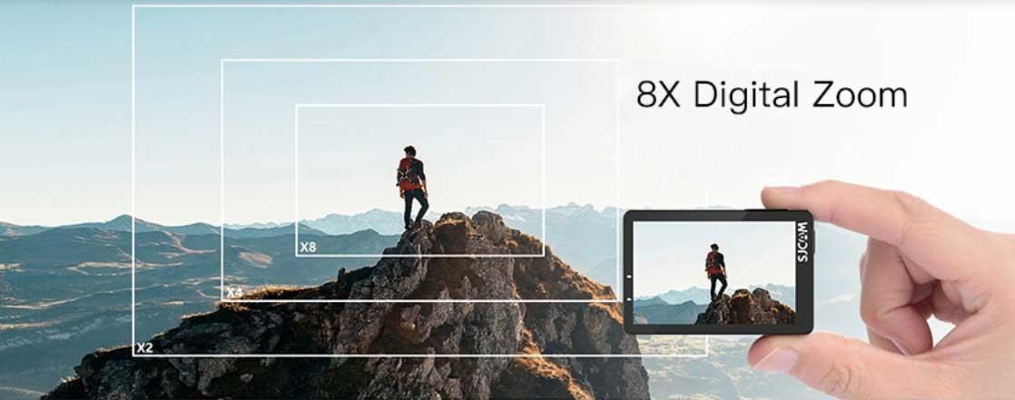 SJCAM SJ8 Pro akciókamera teszt - 8x zoom