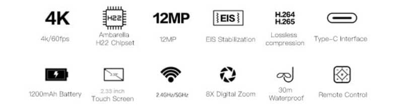 SJCAM SJ8 Pro akciókamera