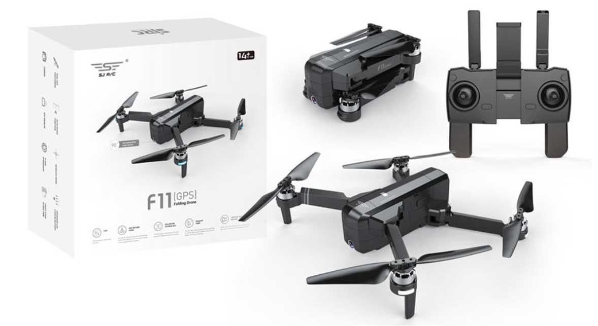 SJRC F11 összehajtható drón kezdőknek