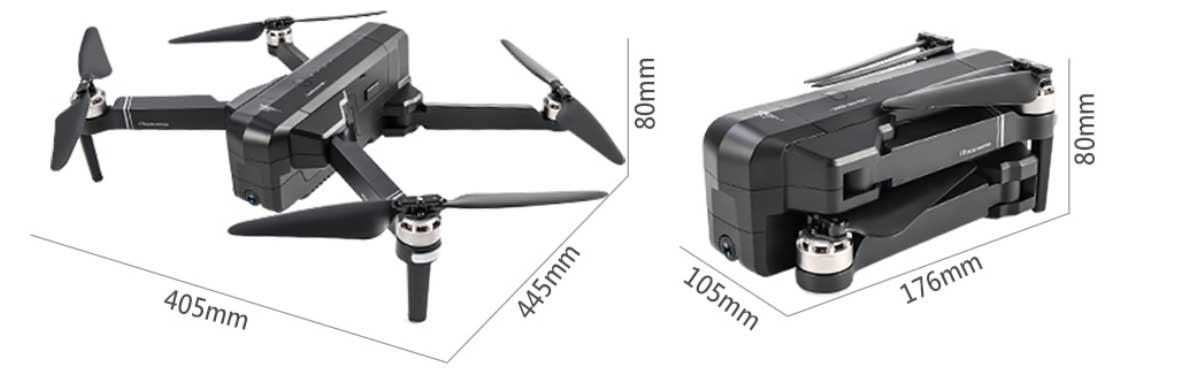 SJRC F11 összehajtható drón