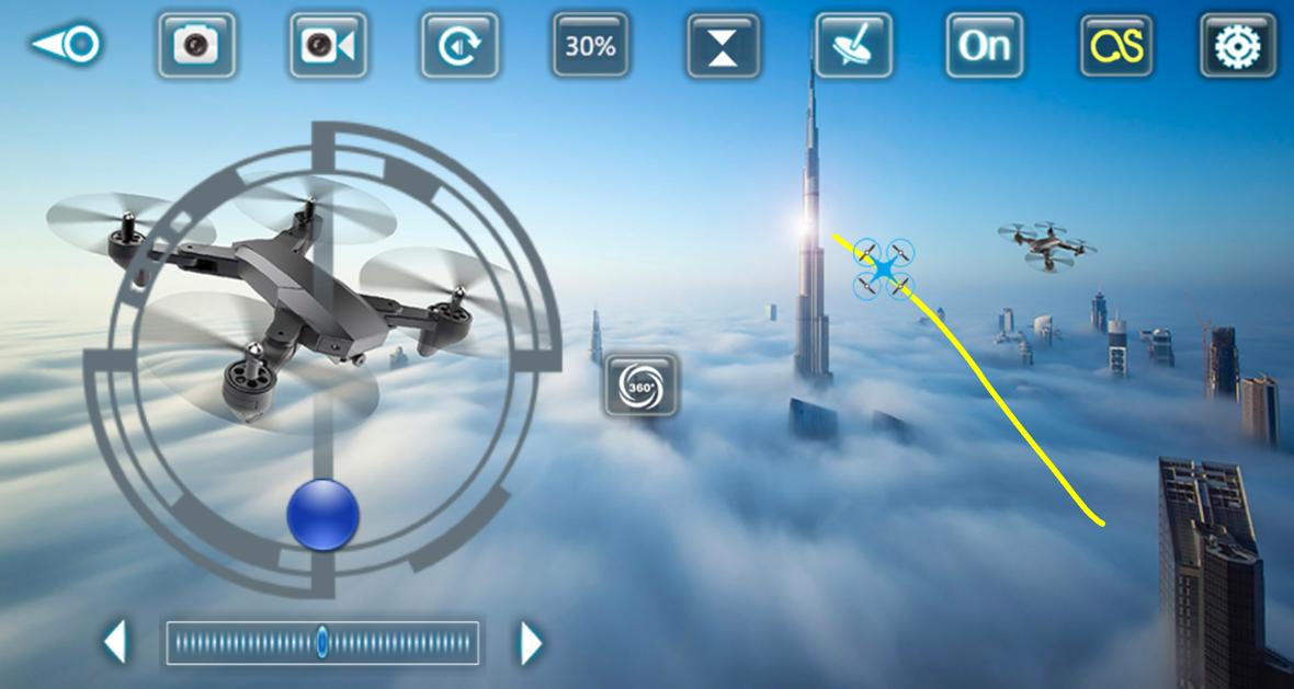 Tianqu Visuo XS809S drón repülési útvonal tervező