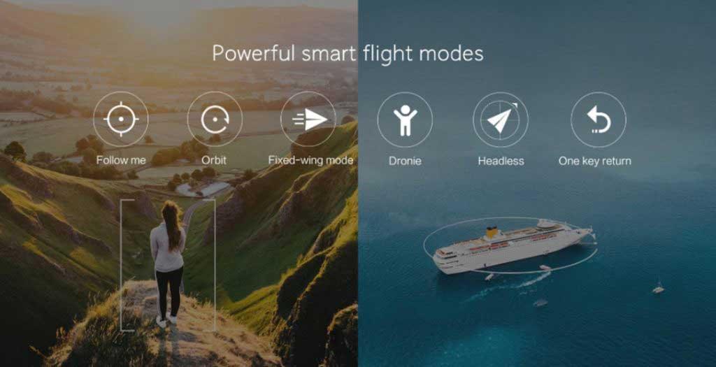 Xiaomi FIMI A3 drón teszt - repülési módok