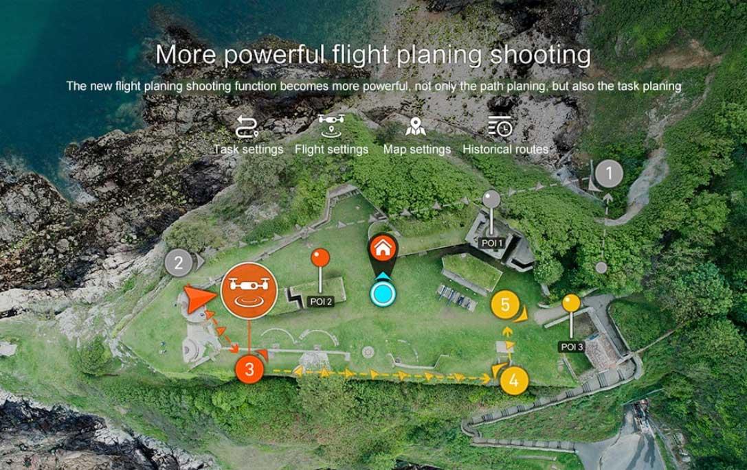 drón teszt - intelligens repülés tervezés