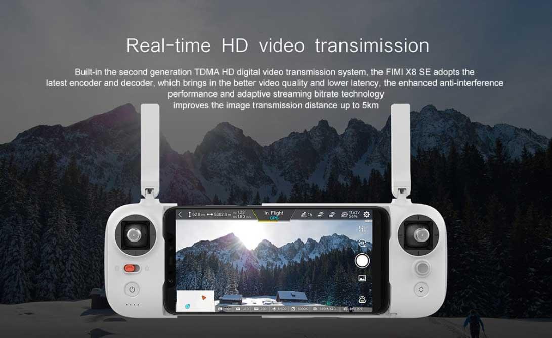 Xiaomi Fimi X8 SE 4K drón teszt - távirányító