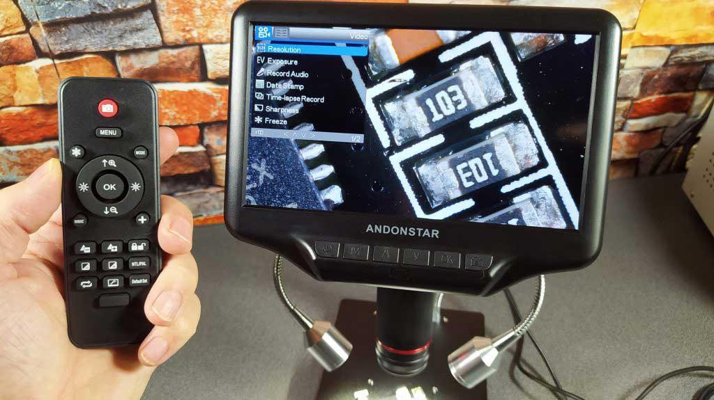 Andonstar AD407 digitális mikroszkóp távirányító
