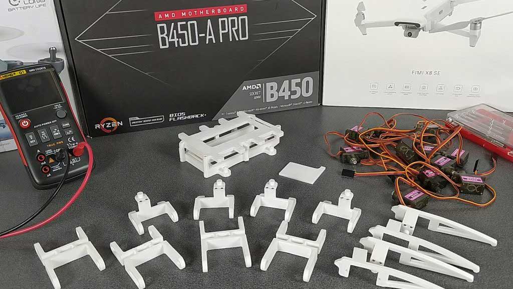 Arduino robot pók 3D nyomtatás