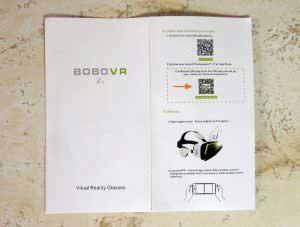 BOBO VR Z4 virtuális valóság szemüveg QR kód