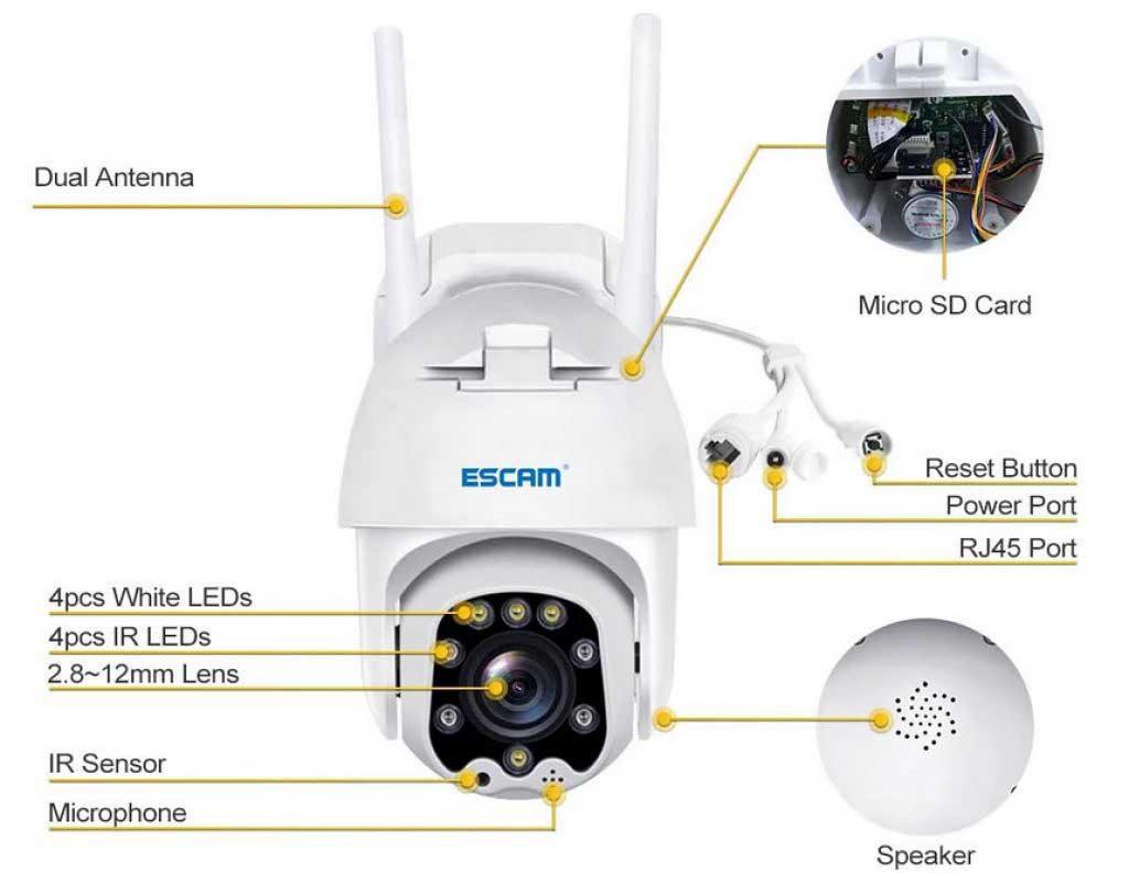 ESCAM QF288 WiFi IP kamera teszt