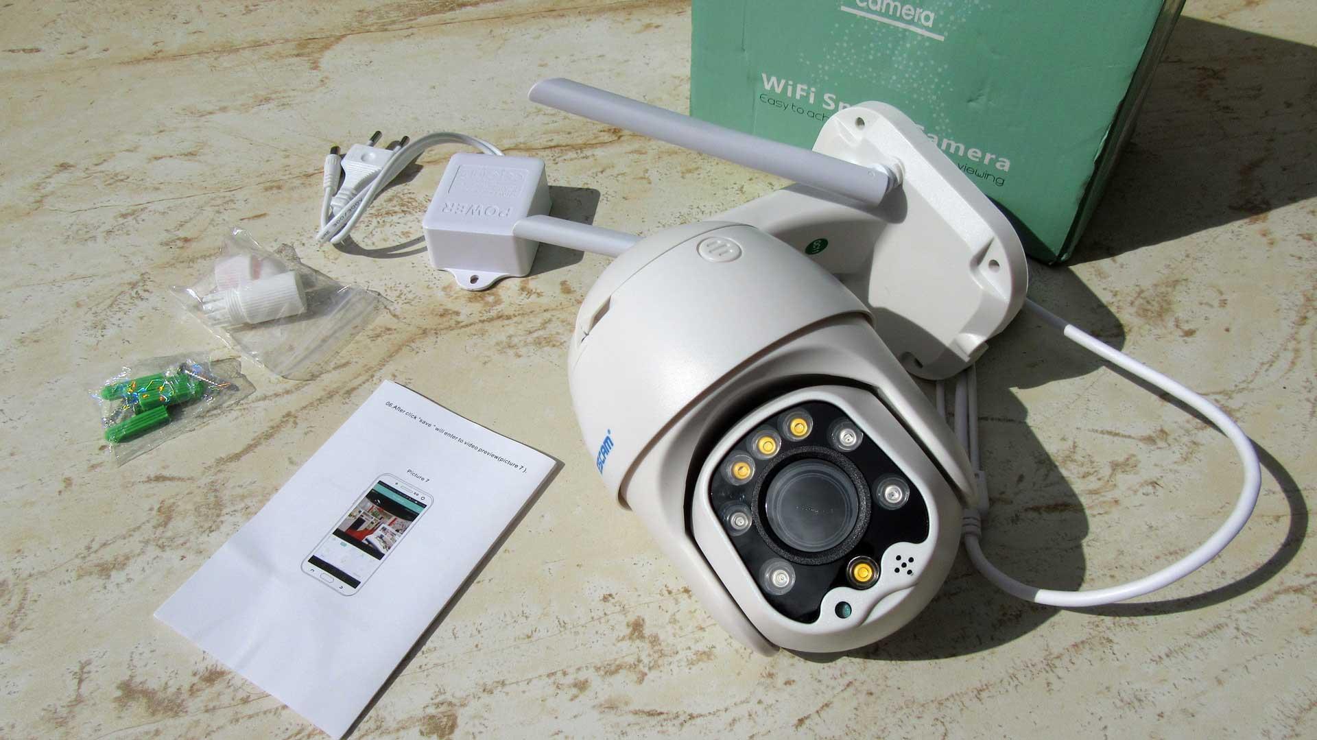 ESCAM QF288 FULL HD kültéri WiFi IP kamera teszt
