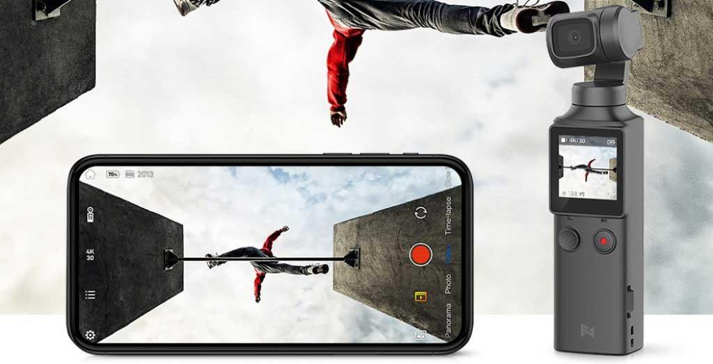 FIMI PALM gimbal teszt mobil applikáció