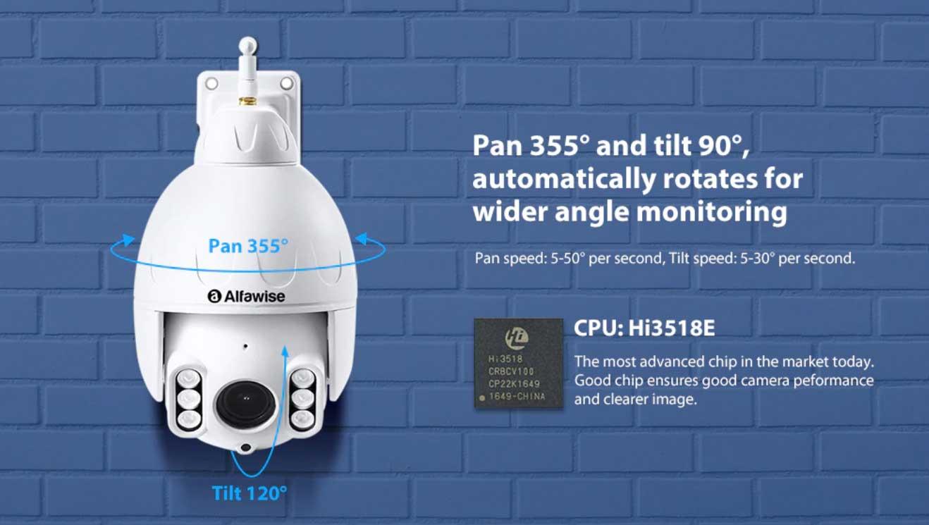 forgatható WiFi IP kamera Alfawise SD07W