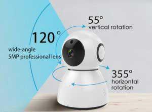 IP kamera 360 fokban körbeforgatható