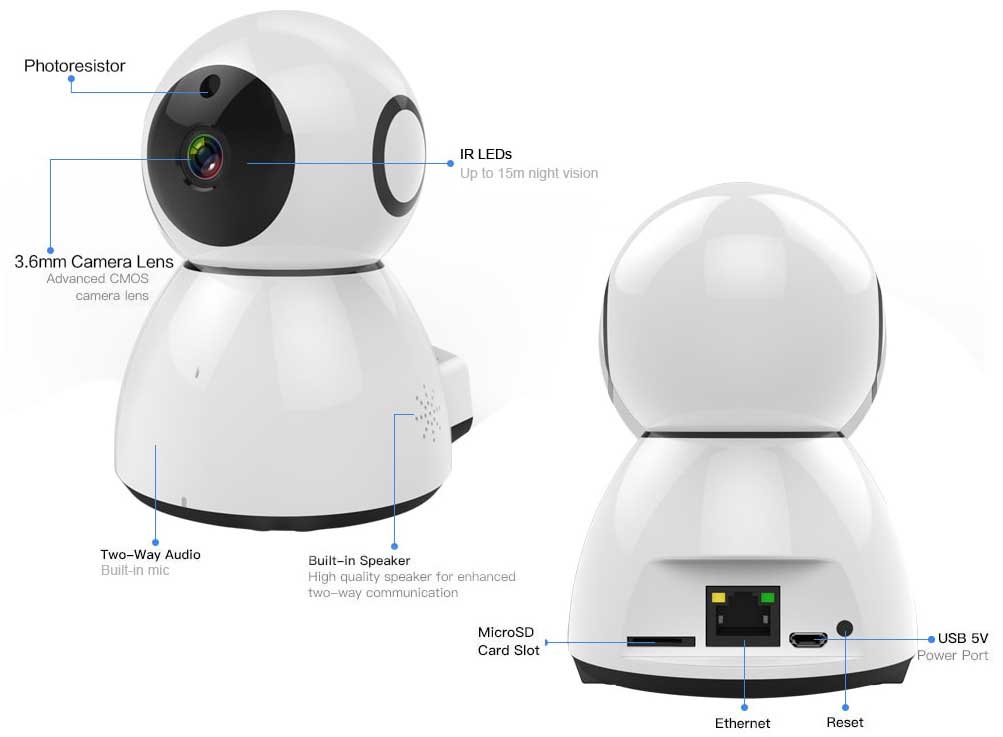 WiFi IP kamera