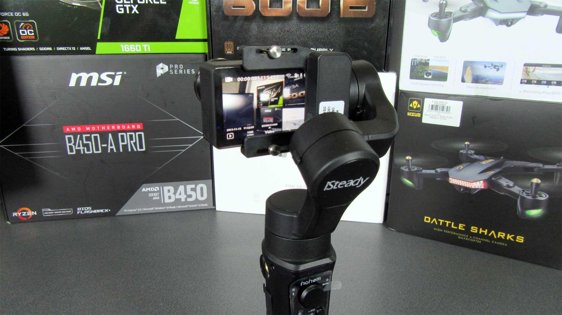 iSteady Pro 2 akciókamera gimbal teszt