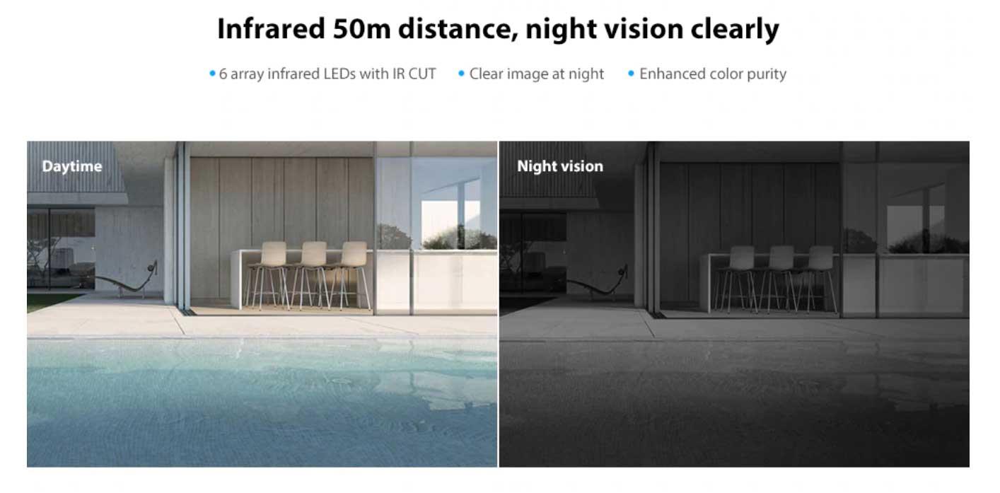 WiFi IP kamera Infrared éjjellátó üzemmód