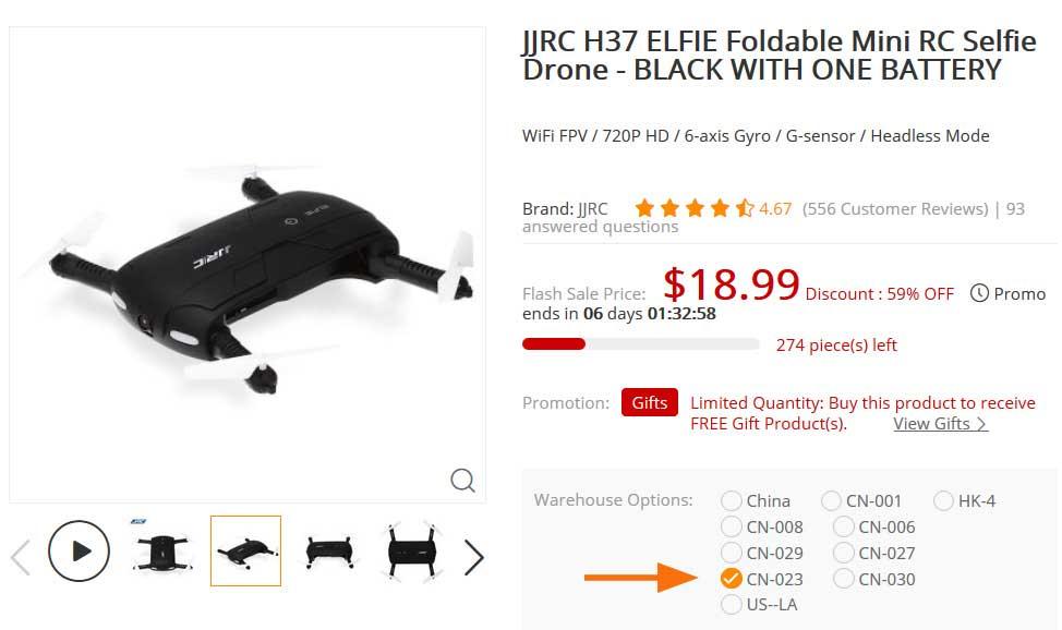 JJRC H37 ELFIE szelfi drón