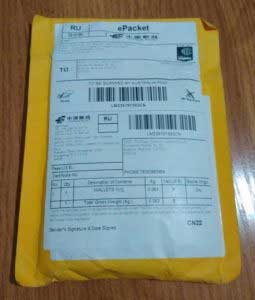 Koronavírus: Csomag Kínából