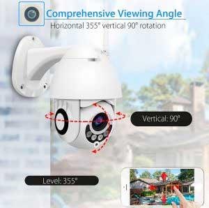 kültéri forgatható FULL HD WiFi IP kamera 5x-ös zoommal