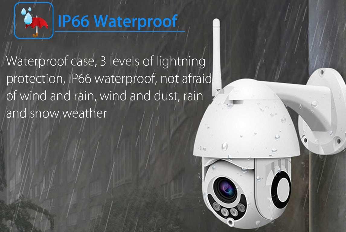 vízálló FULL HD kültéri WiFi IP kamera
