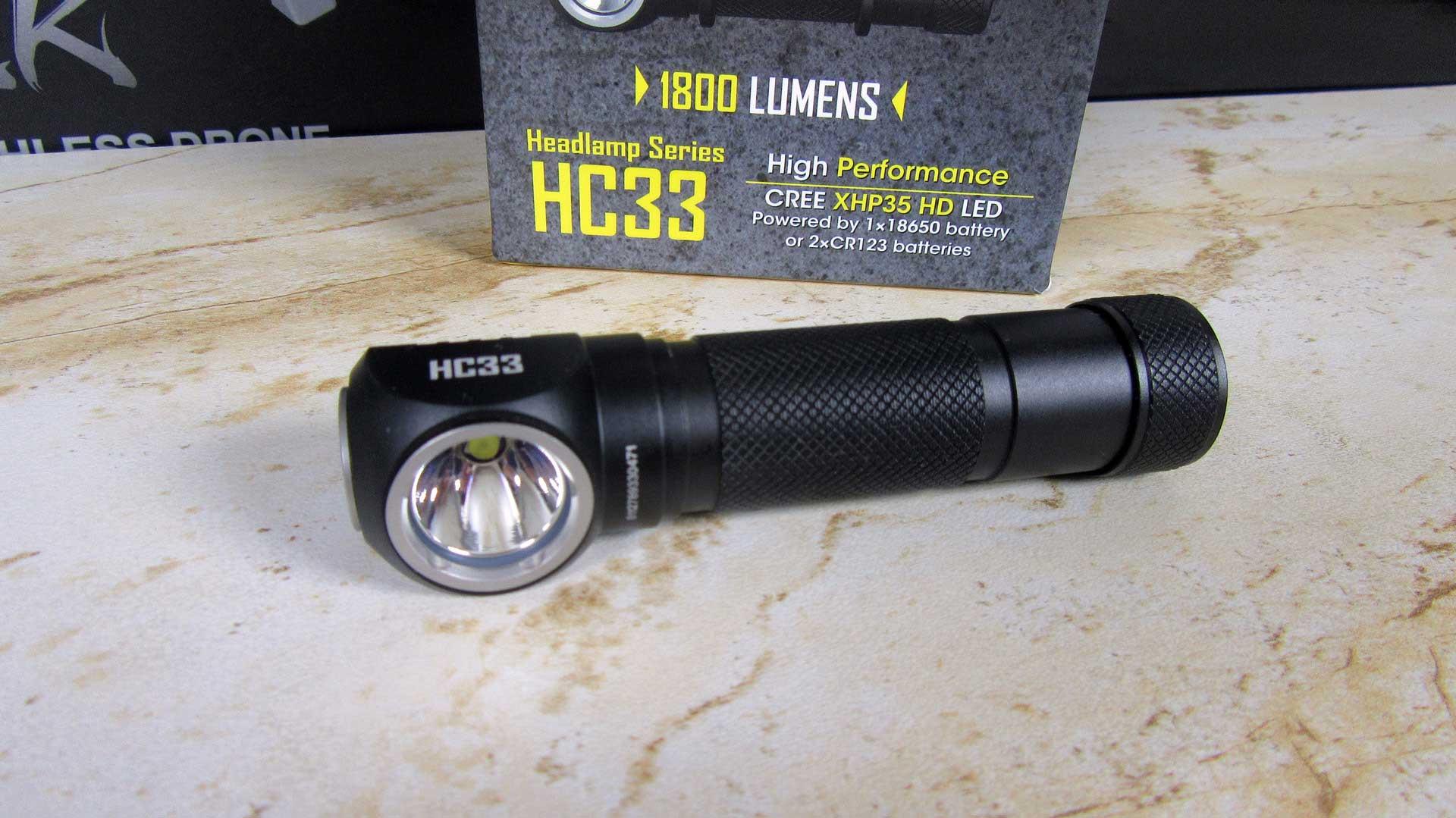 LED fejlámpa teszt – Nitecore HC33