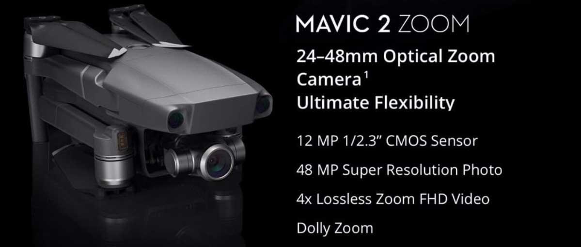 Legjobb 4K kamerás összecsukható drónok - DJI MAVIC 2 Zoom