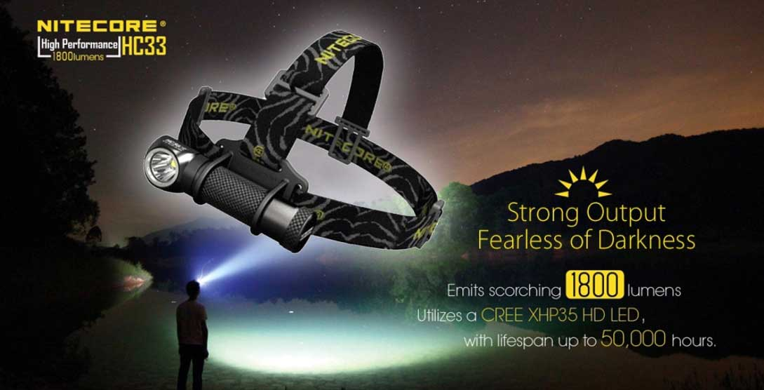 LED fejlámpa teszt - Nitecore HC33