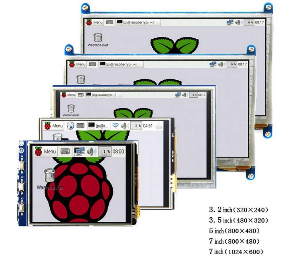 Raspberry Pi 4 LCD kijelzők