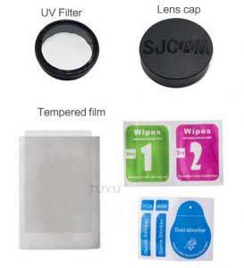 SJCAM SJ8 Pro lencsevédő kupak, UV szűrő lencse és képernyővédő fólia