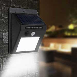 Mozgásérzékelős napelemes LED Fali Fény